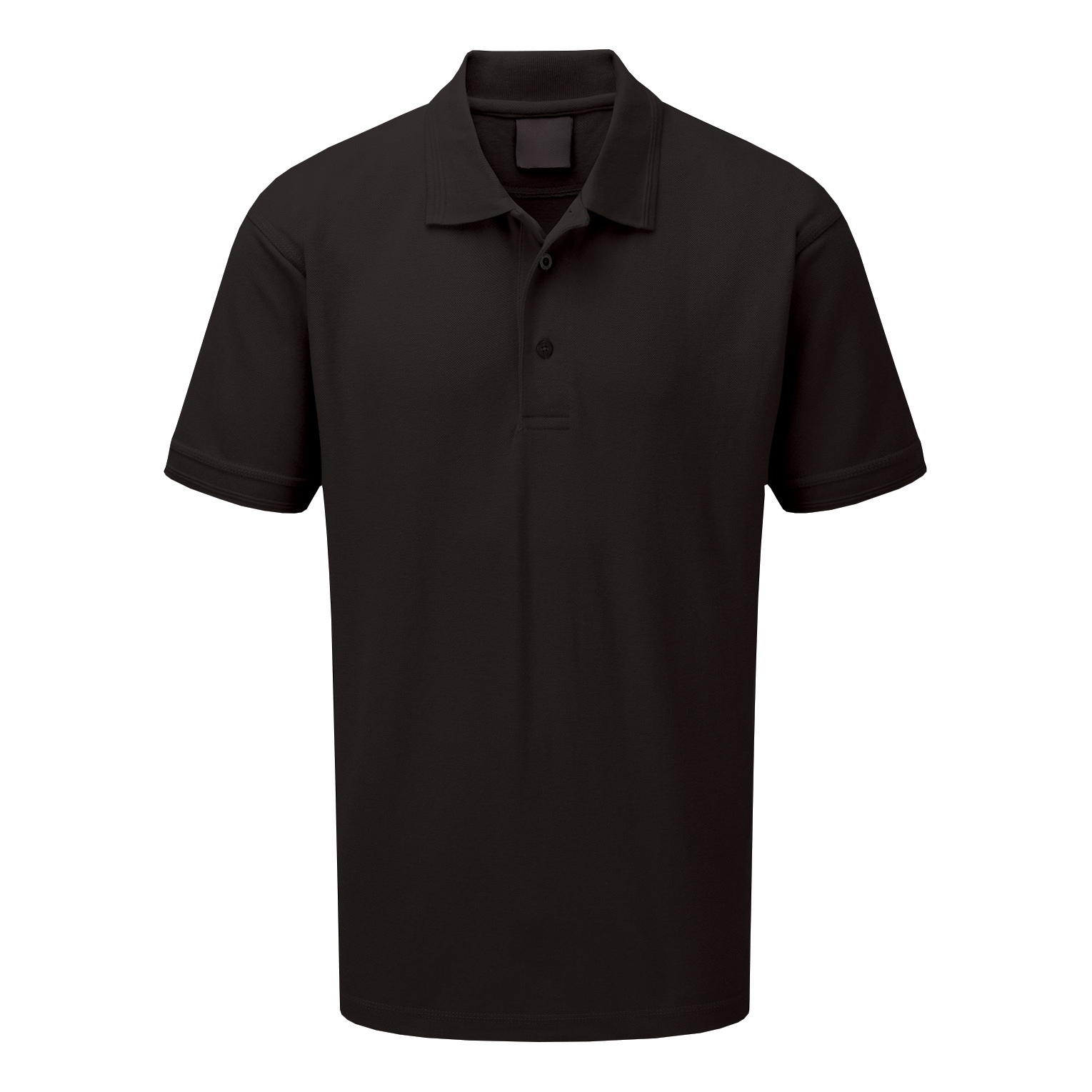 Click Workwear Polo Shirt Polycotton 200gsm XL Black Ref CLPKSBLXL *1-3 Days Lead Time*