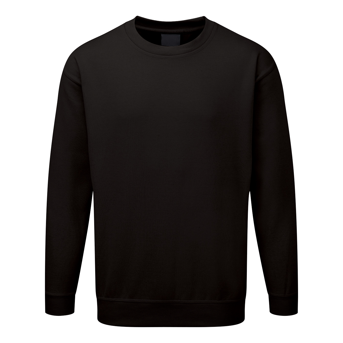 ST Sweatshirt Polyester/Cotton Fabric with Crew Neck Medium Black Ref 56672 *Approx 3 Day Leadtime*