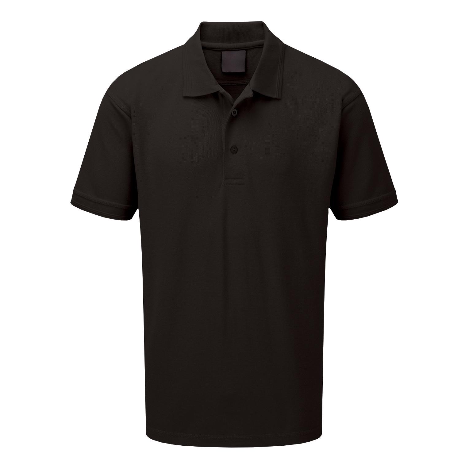 Premuim Polo Shirt Shirt Classic Polycotton 200gsm XS Black Ref CLPKSBLXS *Approx 3 Day Leadtime*