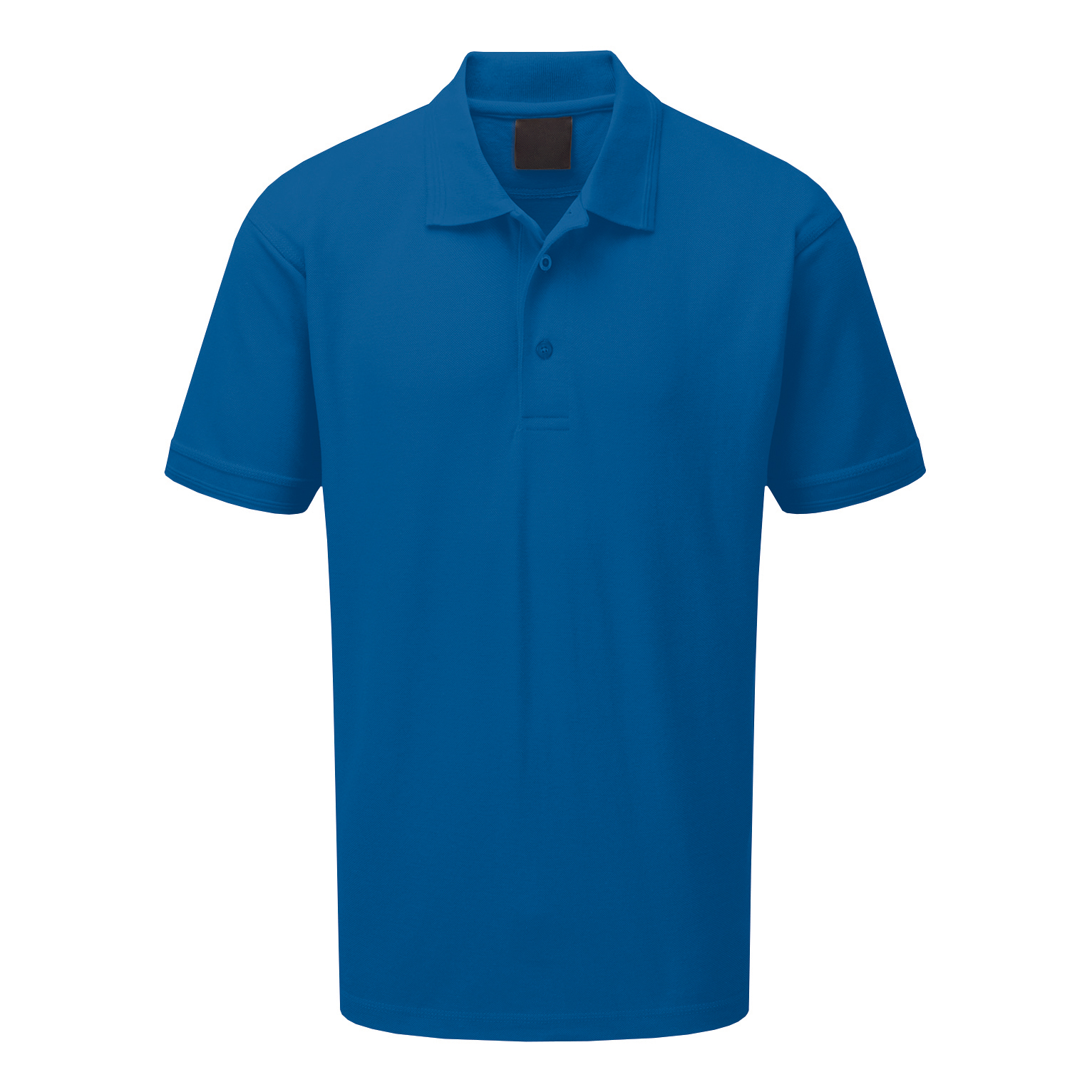Premium Polo Shirt Triple Button 220gsm Polycotton Medium Royal Blue Ref CLPKSRM *Approx 3 Day Leadtime*
