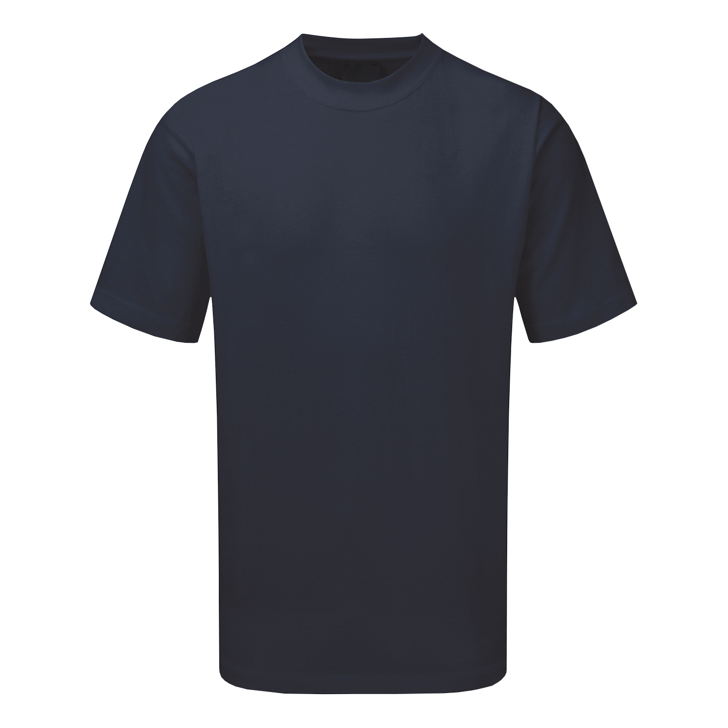 Premium T-Shirt Polycotton Triple Stitched Large Navy Blue