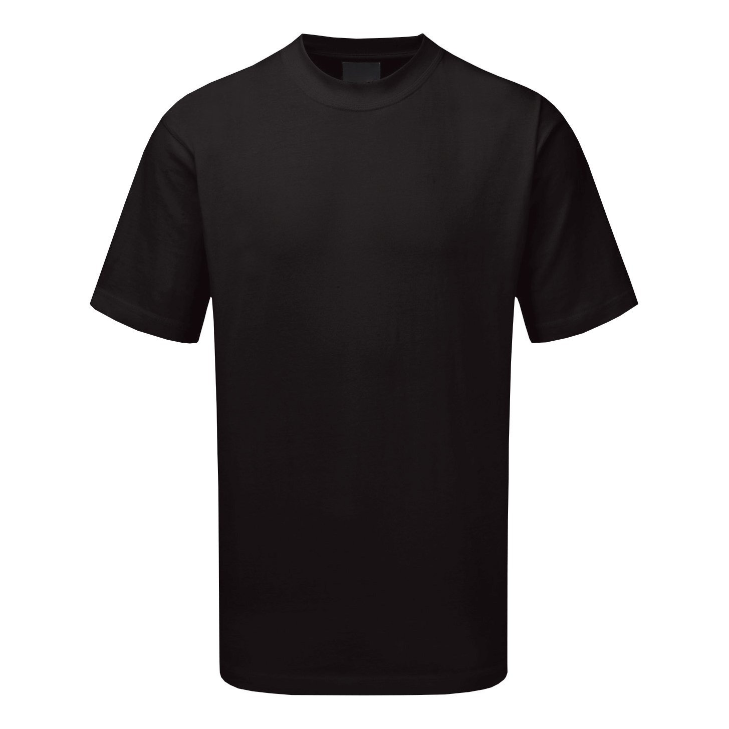 Premium T-Shirt Polycotton Triple Stitched Medium Black Ref CLCTSHWBLM *Up to 3 Day Leadtime*
