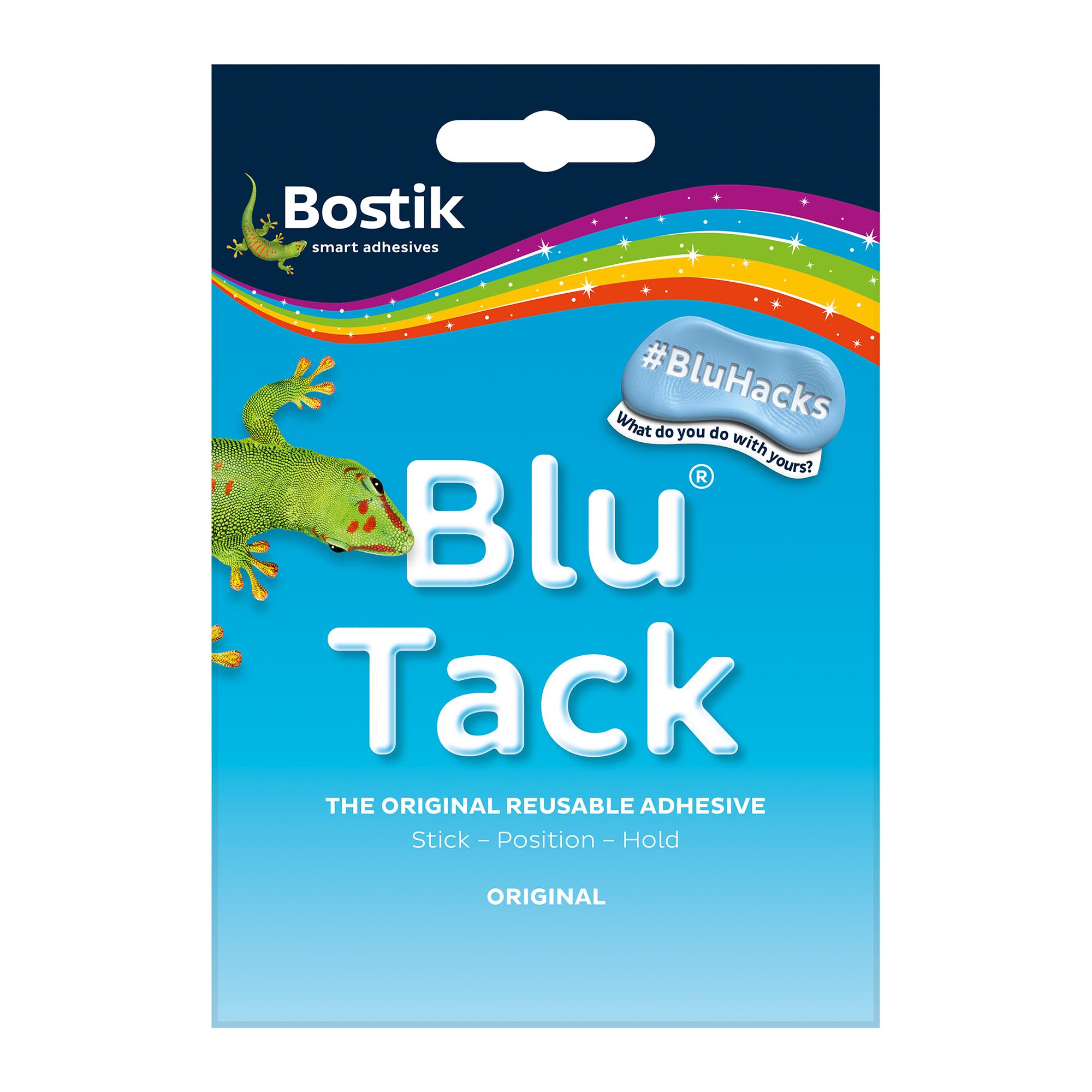 Tack Bostik Blu Tack Original Mastic Adhesive Non-toxic Handy Pack 60g Ref 801103 Pack 12