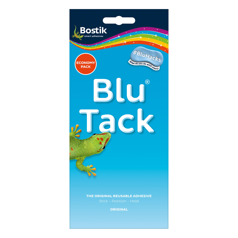 Tack Bostik Blu Tack Original Mastic Adhesive Non-toxic Economy Pack 110g Ref 80108 Pack 12