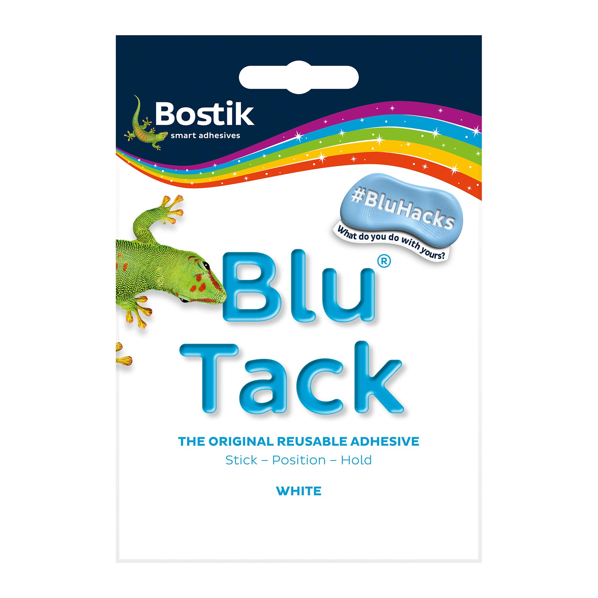 Tack Bostik Blu Tack White Mastic Adhesive Non-toxic Handy Pack 60g Ref 801127 Pack 12