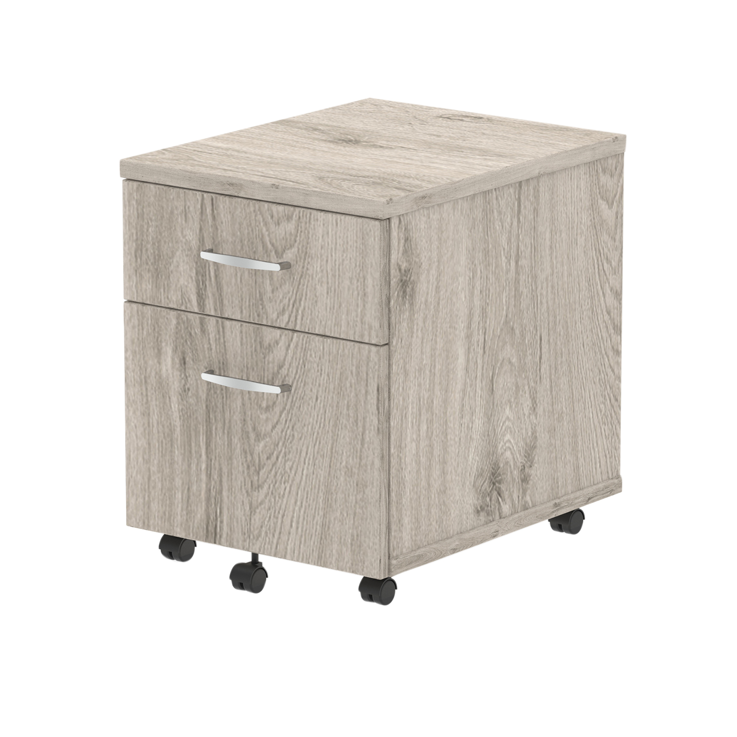 Pedestals Trexus 2 Drawer Mobile Pedestal 430x500x510mm Grey Oak Ref I003223