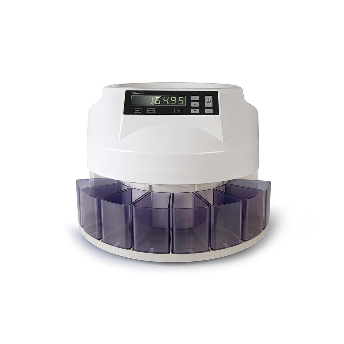 Safescan 1250 EUR Coin Counter and Sorter for Euro W330xL335xH266mm Grey Ref 113-0549