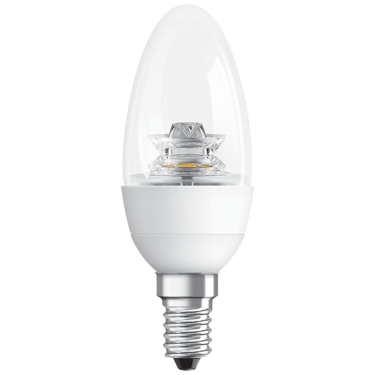 Tungsram Bulb LED E14 Candle Crown Deco 6W 40W Equivalent EEC A+ Energy Smart Dimmable Clear Ref 93030251
