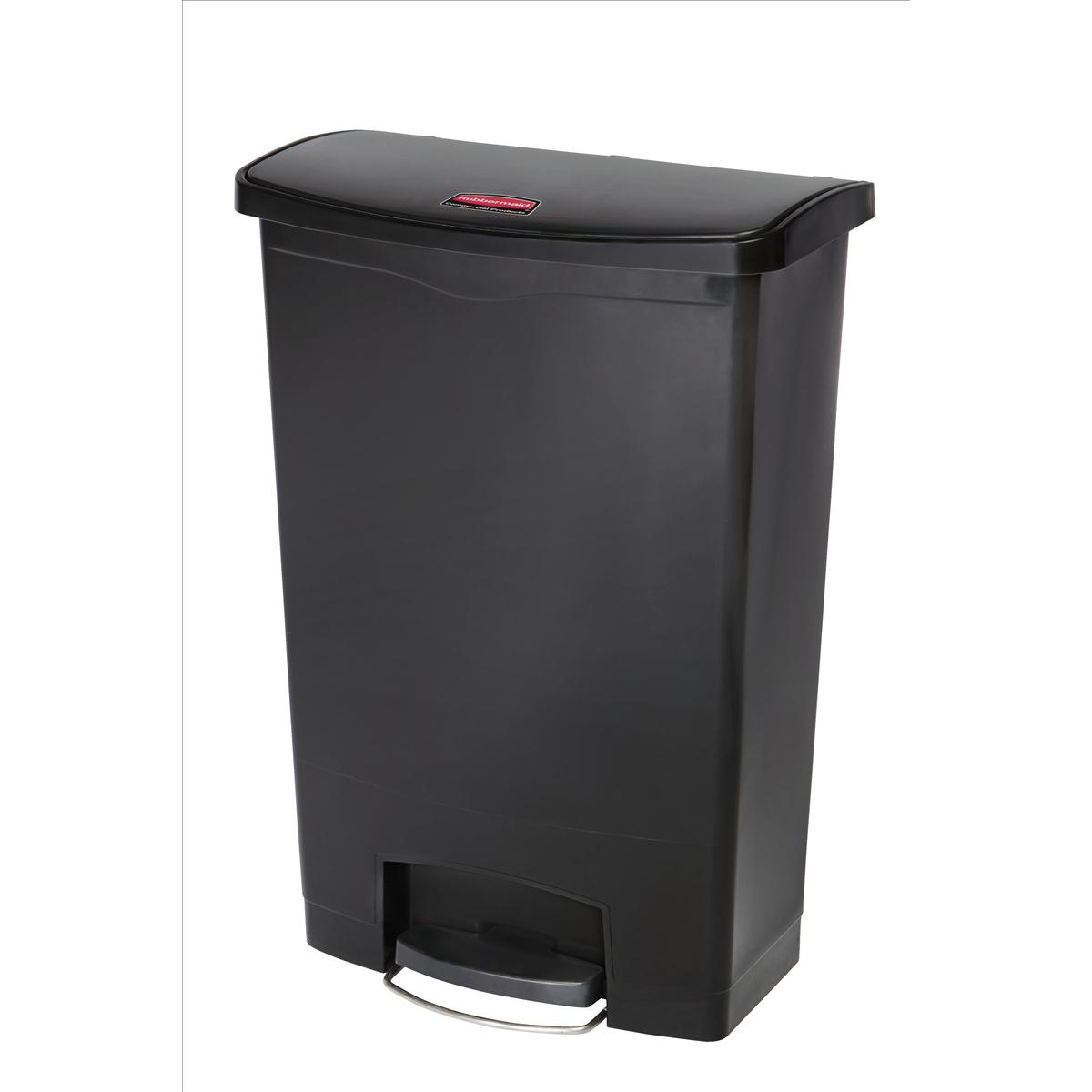 Rubbermaid Slim Step Bin 87 Litre Black Ref 1883615