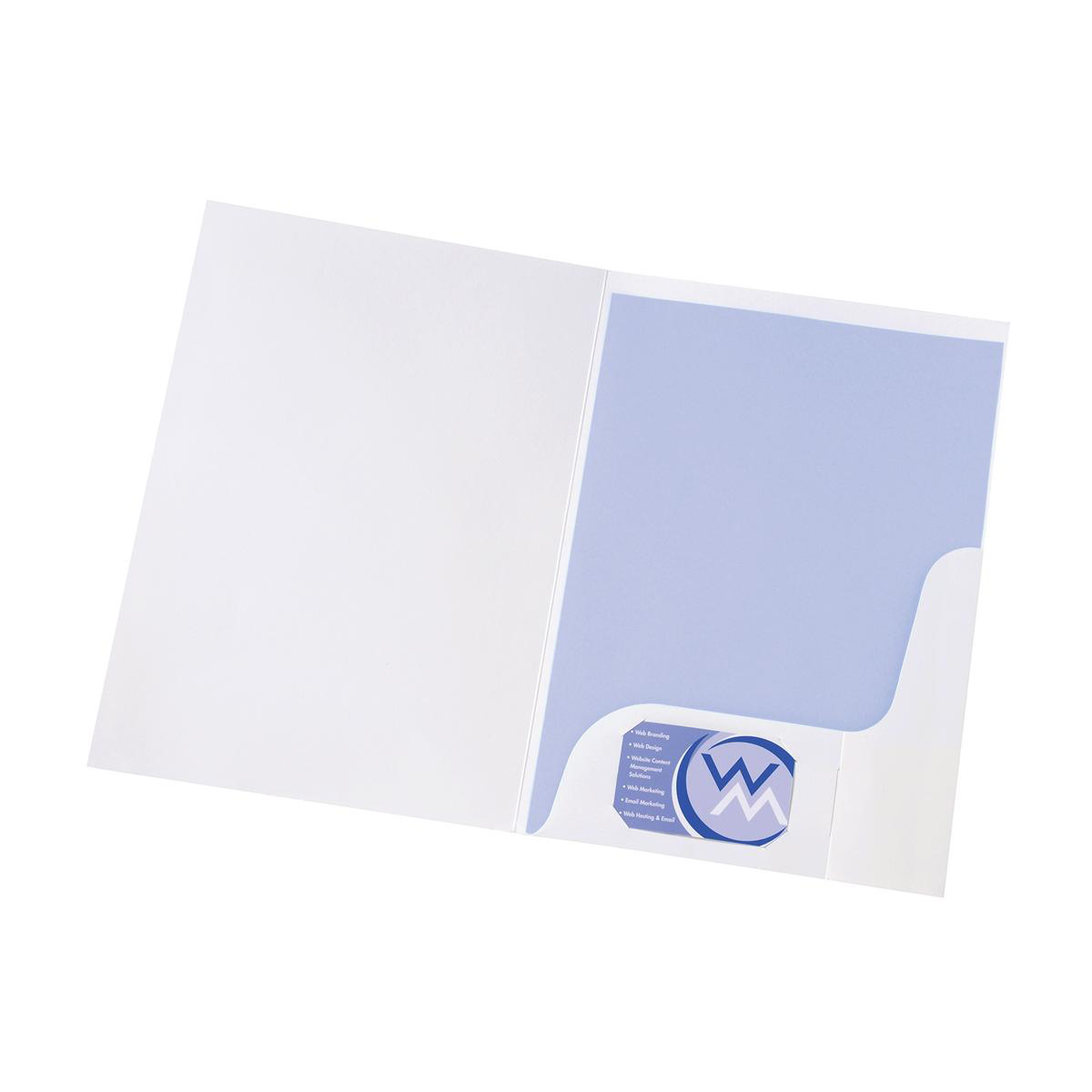 Plastic Pockets 5 Star Office Corporate Presentation Folder A4 Gloss White Pack 50