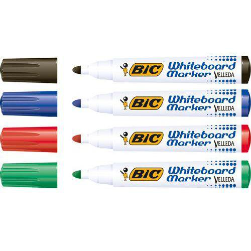 Bic Velleda 1701 Whiteboard Marker Bullet Tip Line Width 1.5mm Assorted Ref 927259 Pack 48