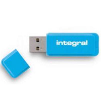 Memory Sticks Integral Neon Flash Drive USB 3.0 Blue 64GB Ref INFD64GBNEONB3.0