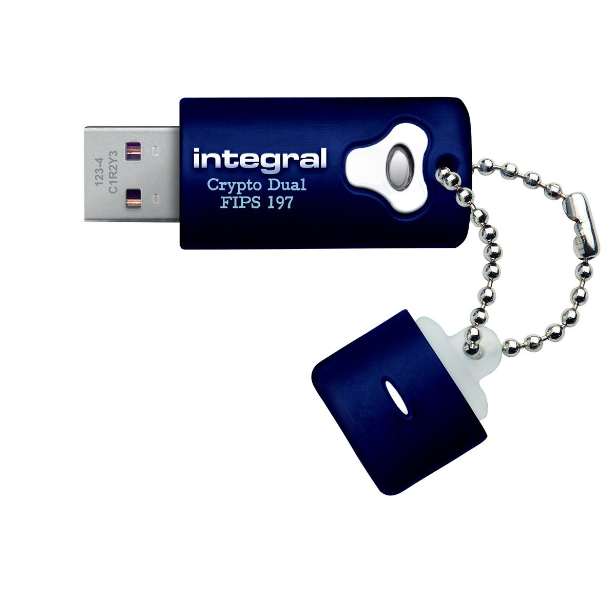 Integral Crypto Dual Flash Drive USB 2.0 FIPS 197 256-bit Encryption 8GB Ref INFD8GCRYPTODL197