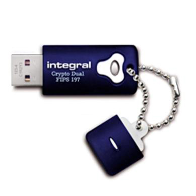 Integral Crypto Dual Flash Drive USB 2.0 FIPS 197 256-bit Encryption 16GB Ref INFD16GCRYPTODL197