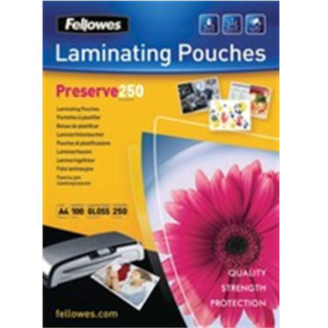 Laminating Film & Pockets Fellowes Laminating Pouches 500 Micron for A4 Ref 54018 Pack 100