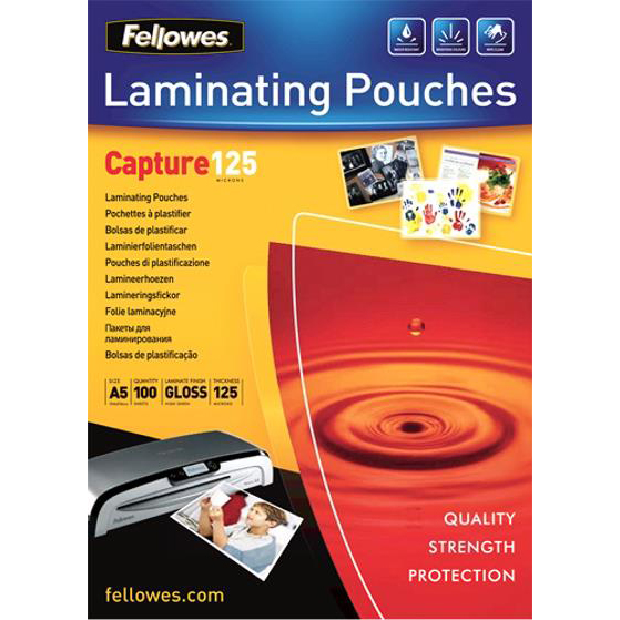Fellowes Laminating Pouches 250 Micron for A5 Ref 5307301 Pack 100