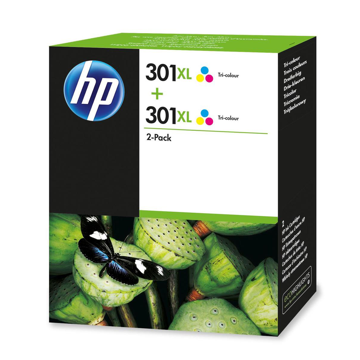 Hewlett Packard [HP] No. 301XL Inkjet Cartridge High Yield Page Life 330pp Tricolour Ref D8J46AE [Pack 2]