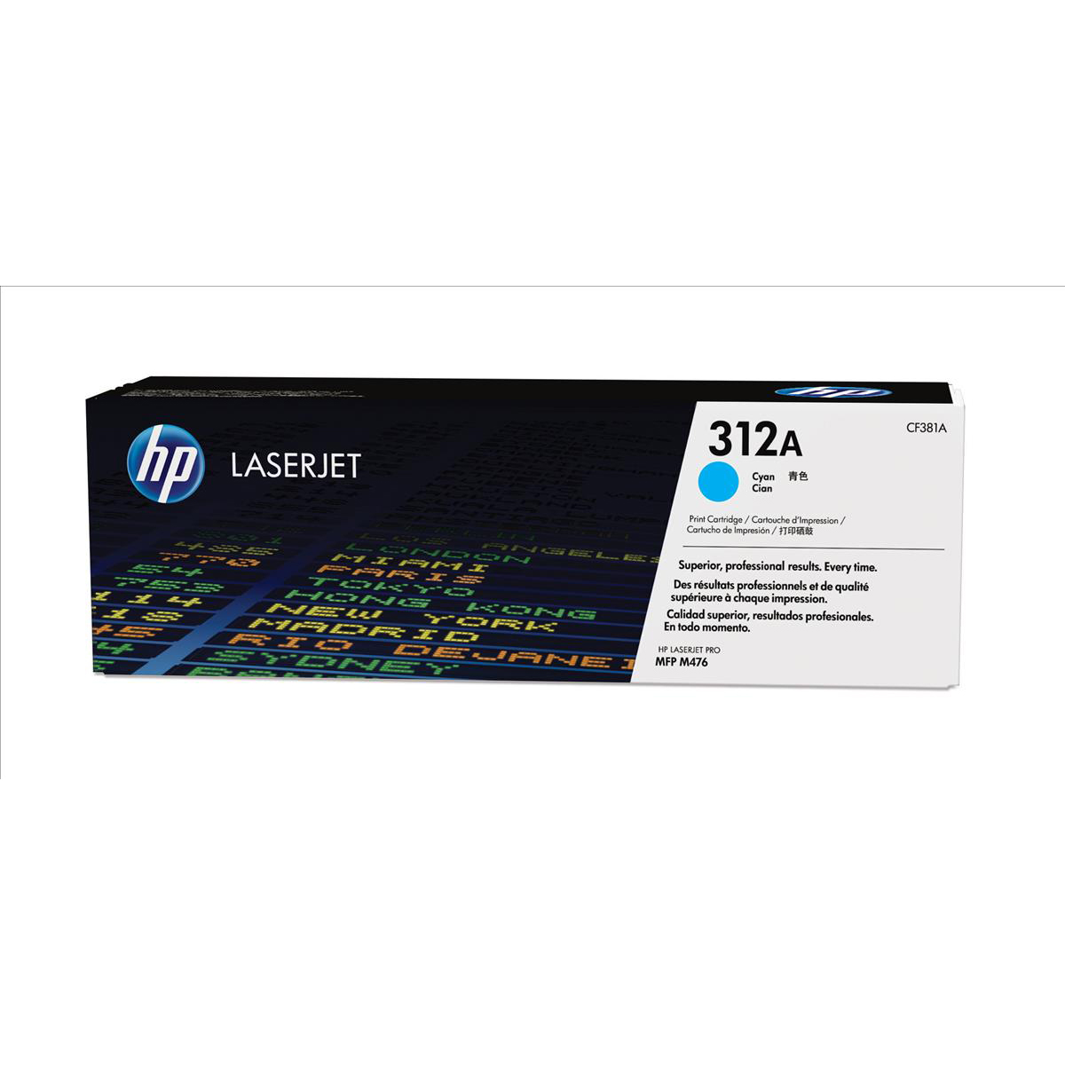 HP 312A Laser Toner Cartridge Page Life 2700pp Cyan Ref CF381A