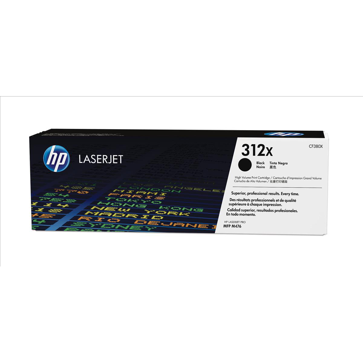 HP 312X Black High Yield Laserjet Toner Cartridge CF380X