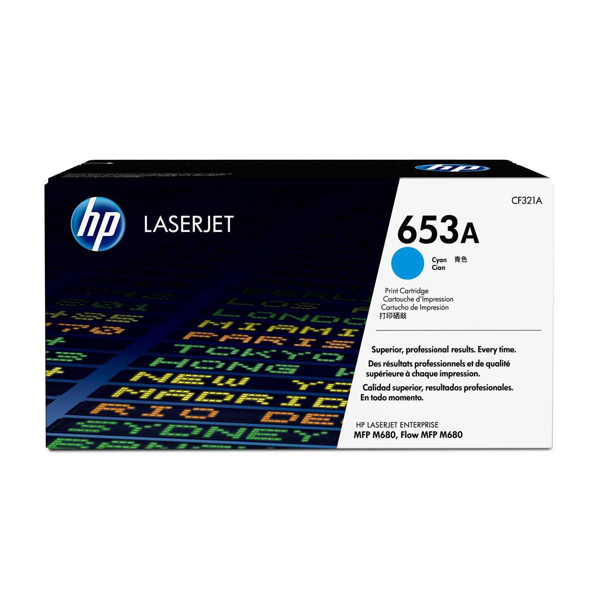 Hewlett Packard [HP] 653A Laser Toner Cartridge Page Life 16500 Cyan Ref CF321A