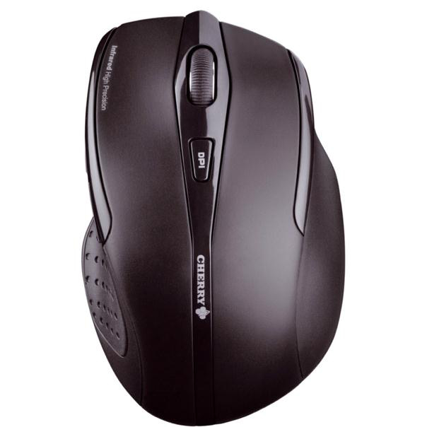 Wireless Cherry MW 3000 Five-Button Wireless Mouse 2.4GHz Optical Range 5m Right Handed Black Ref JW-T0100