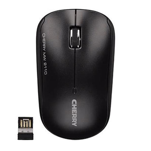 Cherry MW 2110 Three-Button Wireless Mouse 2.4GHz Optical Range 10m Both Handed Black Ref JW-T0210