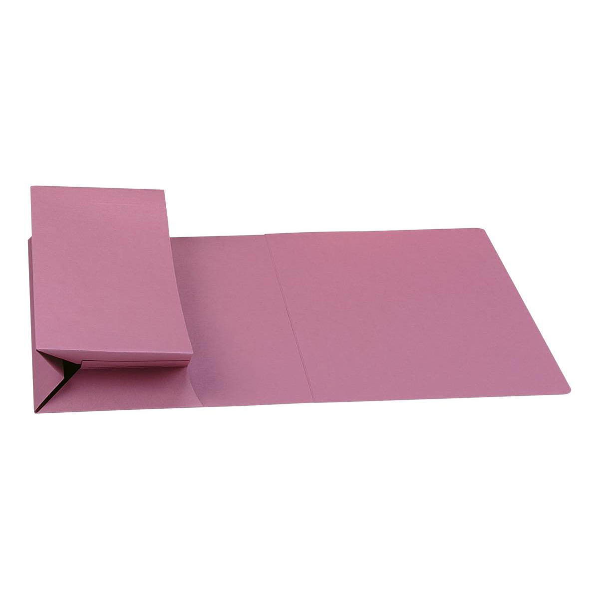 Document Wallets Guildhall Probate Wallets Manilla 315gsm 75mm Foolscap Pink Ref PRW2-PNKZ Pack 25