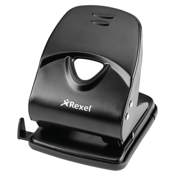 Hole Punches Rexel V240 Value Punch 2-Hole Metal Capacity 40x 80gsm Black Ref 2103653