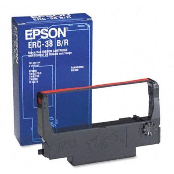 Ribbons Epson ERC38BR Fabric Ribbon Cartridge Black/Red Ref C43S015376