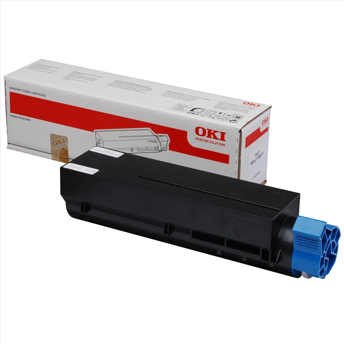 OKI B401 Laser Toner Cartridge Page Life 1500pp Black Ref 44992401