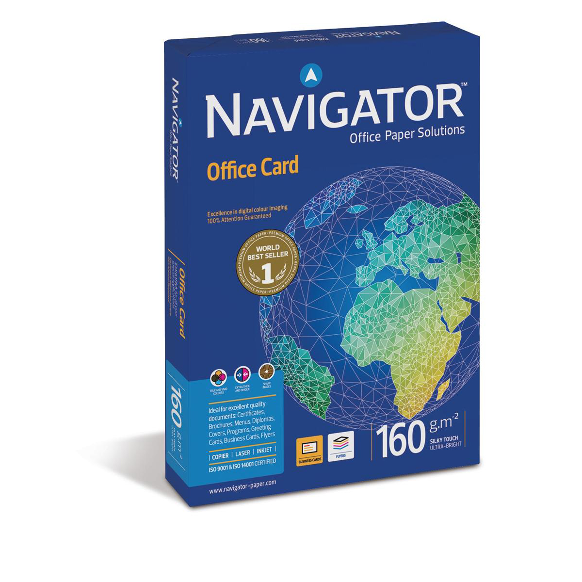 Navigator Office Premium Card High Quality 160gsm A4 Bright White Ref NOC1600001 250 Sheets