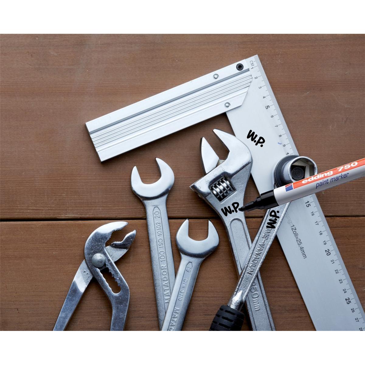 Edding 750 Paint Marker Bullet Tip 2-4mm Line Black Ref 4-750001 Pack 10
