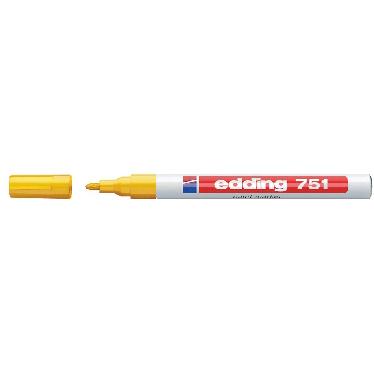 Edding 751 Paint Marker Fine Bullet Tip 1-2mm Line Yellow Ref 4-751005 Pack 10