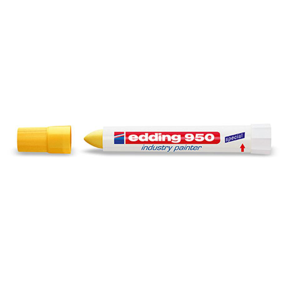 Edding 950 Industry Painter Bullet Tip 10mm Yellow Ref 4-950005 Pack 10