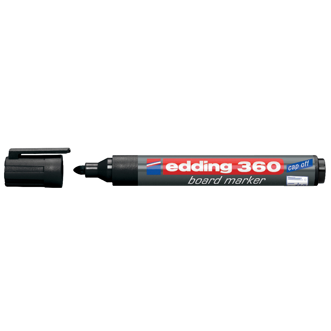 Edding 360 Whiteboard Marker Bullet Tip 1.5-3mm Line Black Ref 4-360001 [Pack 10]