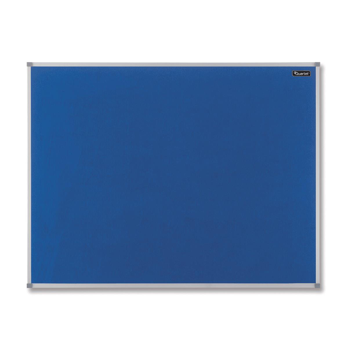 Nobo Basic Felt Notice Board Aluminium Trim 600x450mm Blue Ref 1904069