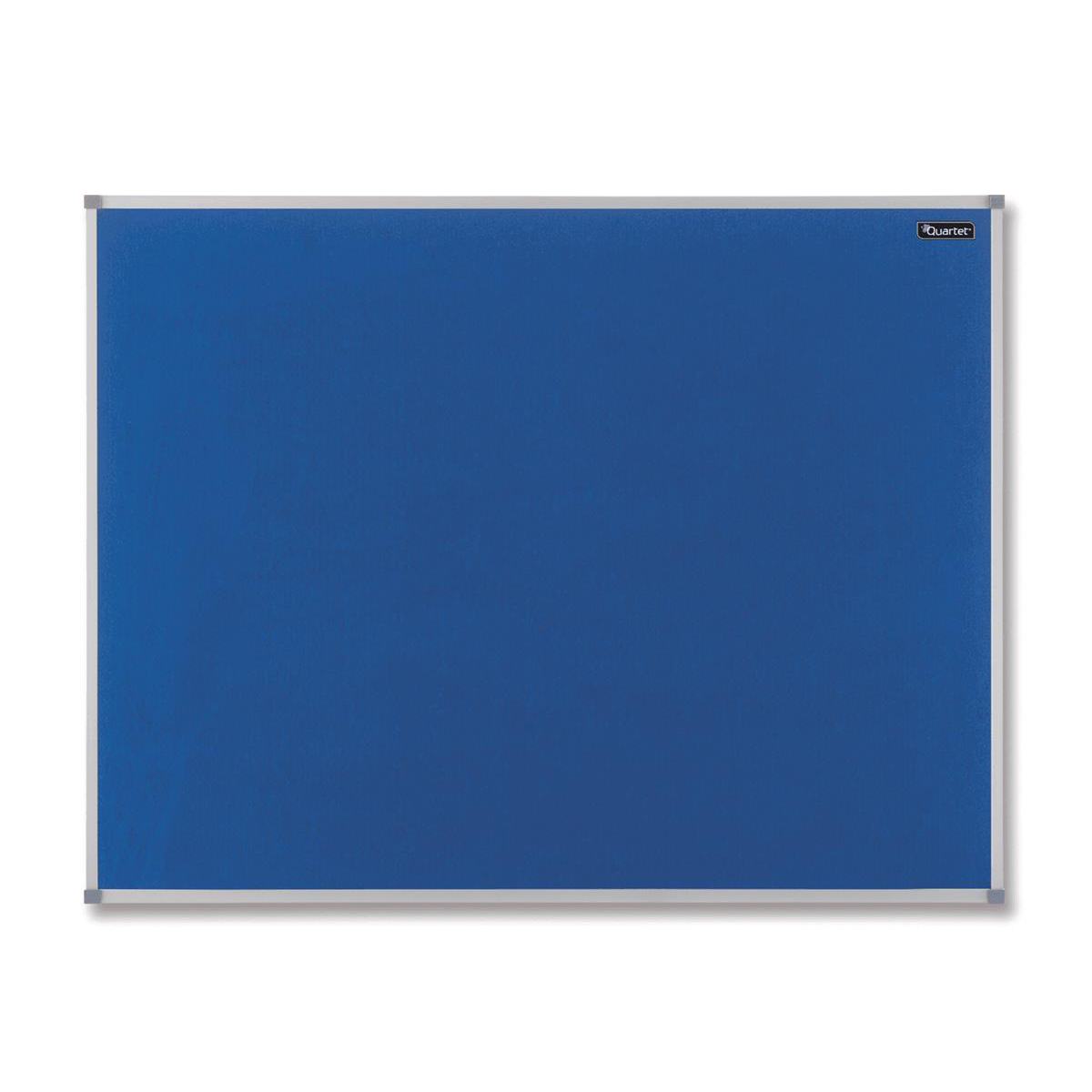 Nobo Basic Felt Notice Board Aluminium Trim 900x600mm Blue Ref 1904070