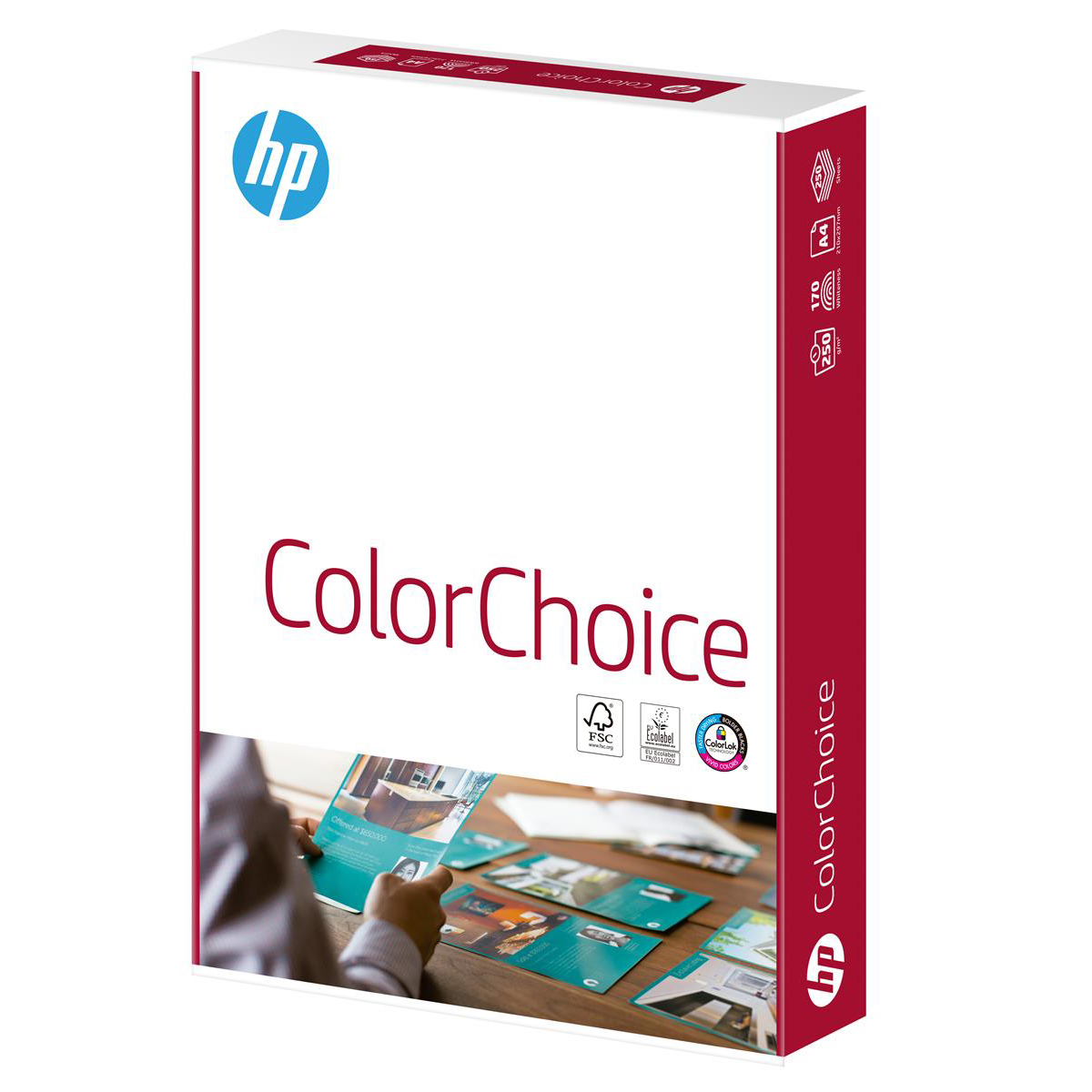 Hewlett Packard HP Color Choice Card Smooth FSC Colorlok 200gsm A4 White Ref 94301 250 Sheets