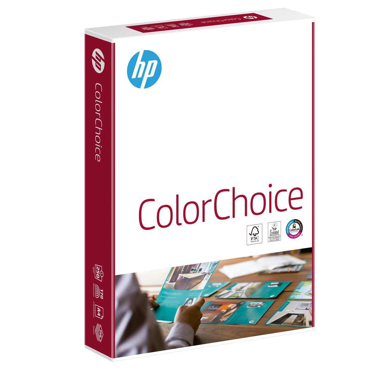 Hewlett Packard HP Color Choice Paper Smooth Colorlok 200gsm A4 White Ref CHP756 250 Sheets
