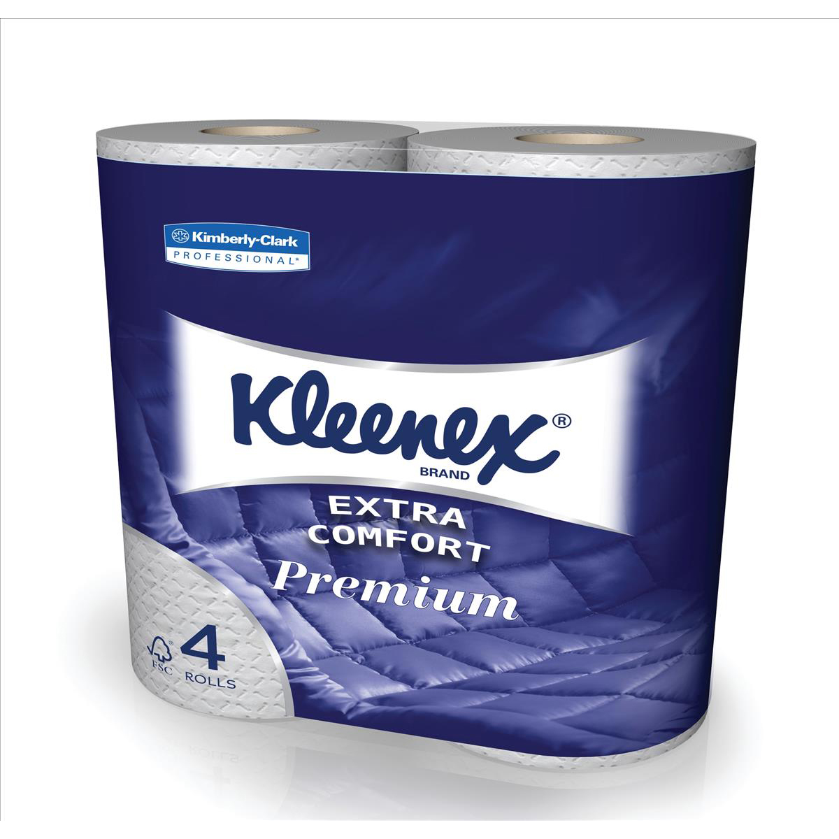 Kleenex Comfort Small Toilet Roll Pkd 4 Rolls of 160 Sheets 2-ply White Ref 8484 Pack 6