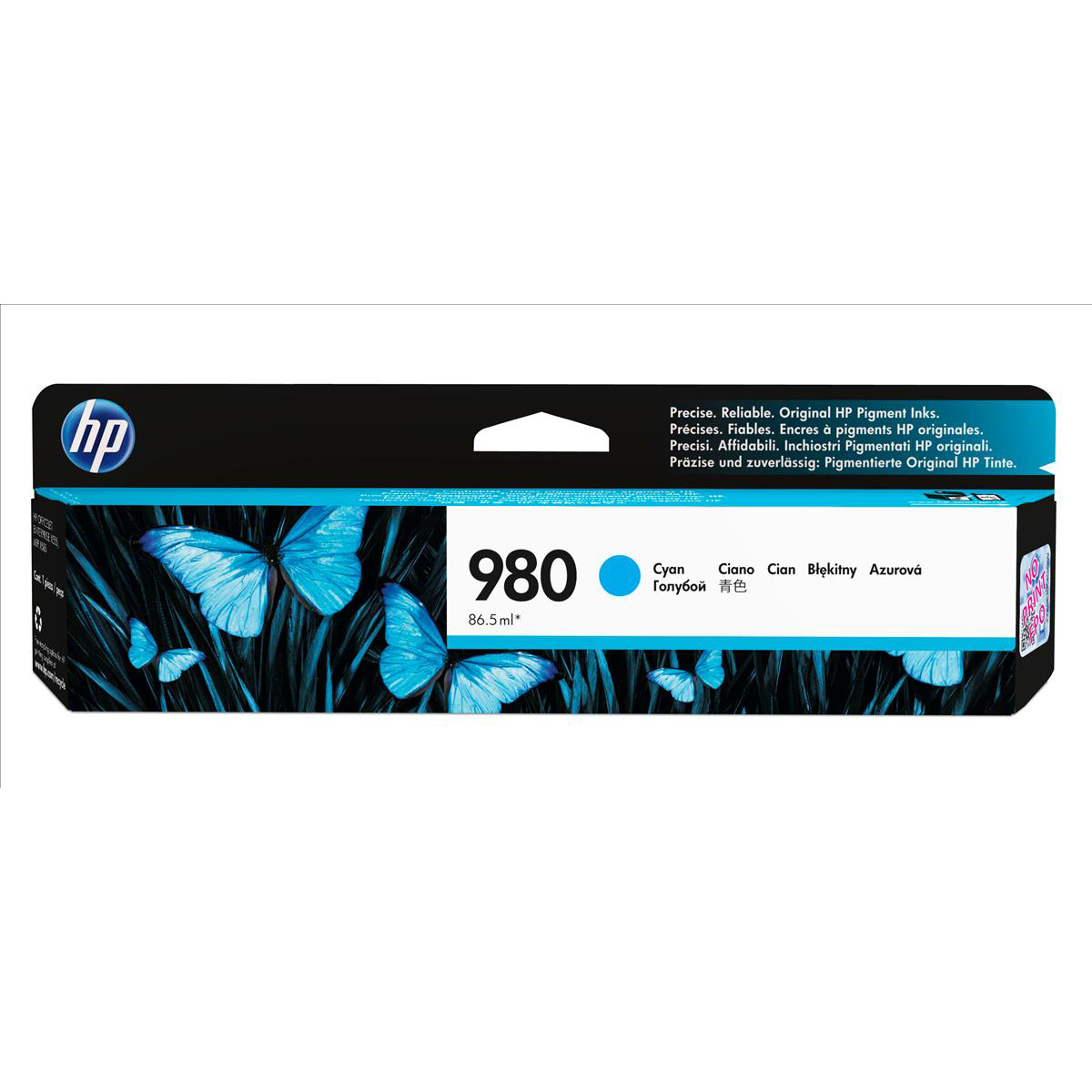 Hewlett Packard [HP] No.980 Inkjet Cartridge Page Life 6600pp Cartridge Cyan Ref D8J07A
