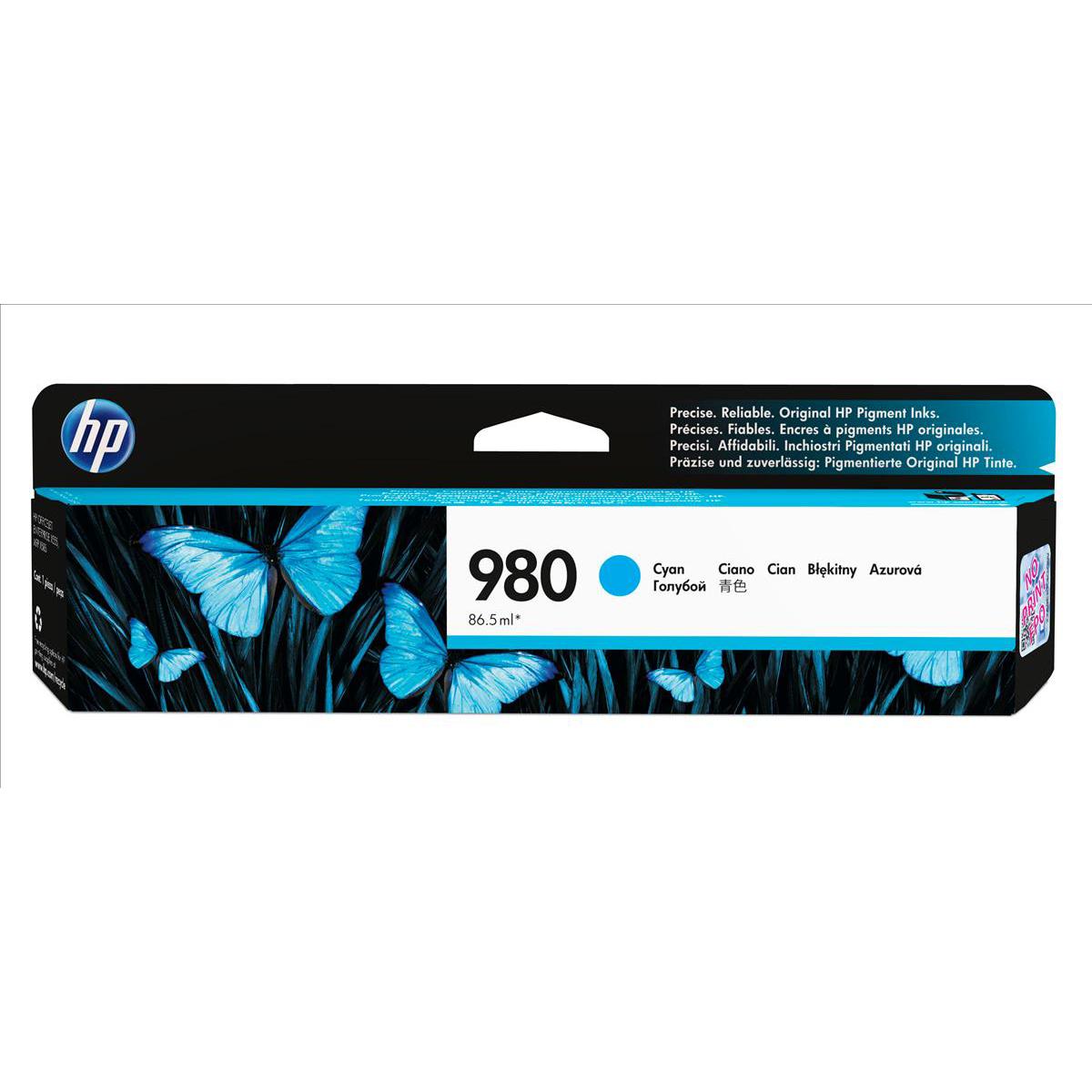 Hewlett Packard [HP] No. 980 Inkjet Cartridge Page Life 6600pp Cartridge Cyan Ref D8J07A