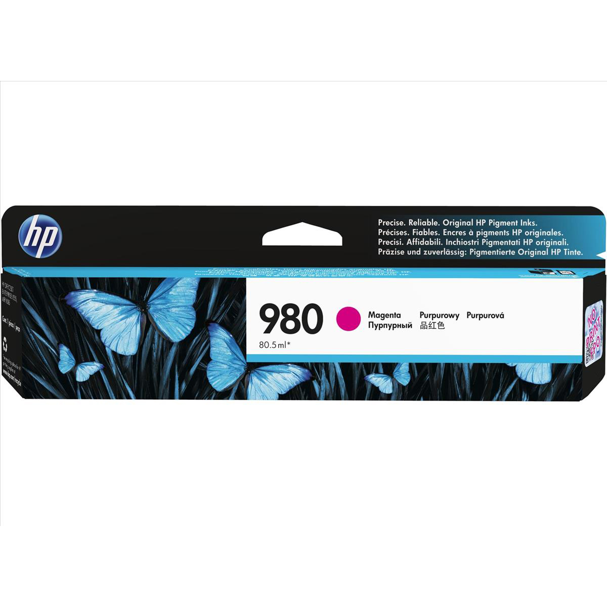 Hewlett Packard [HP] No. 980 Inkjet Cartridge Page Life 6600pp Cartridge Magenta Ref D8J08A