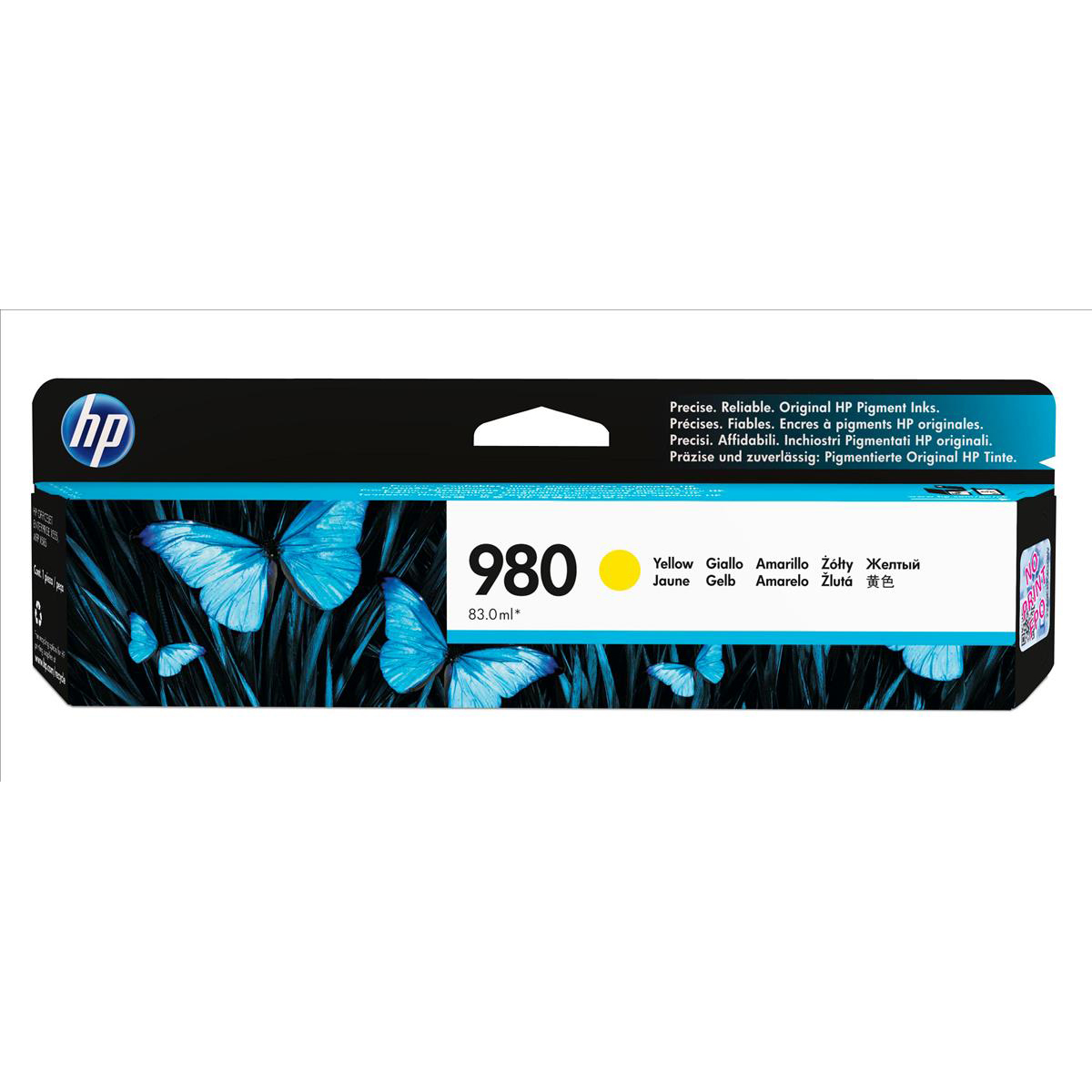 Hewlett Packard HP No.980 Inkjet Cartridge Page Life 6600pp Cartridge Yellow Ref D8J09A