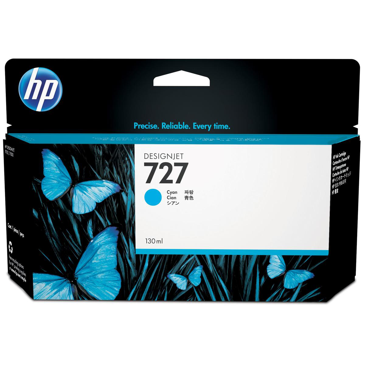 Hewlett Packard [HP] No. 727 Designjet Inkjet Cartridge 130ml Cyan Ref B3P19A