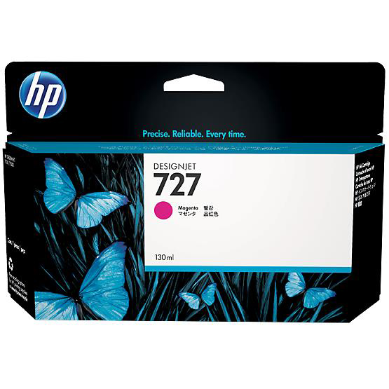 Hewlett Packard [HP] No.727 Designjet Inkjet Cartridge 130ml Magenta Ref B3P20A