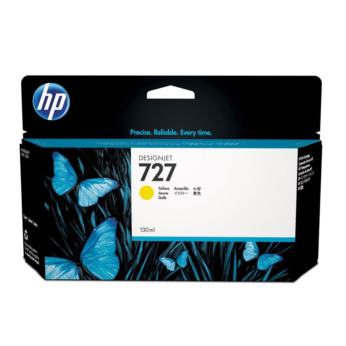Ink cartridges Hewlett Packard HP No.727 Designjet Inkjet Cartridge 130ml Yellow Ref B3P21A