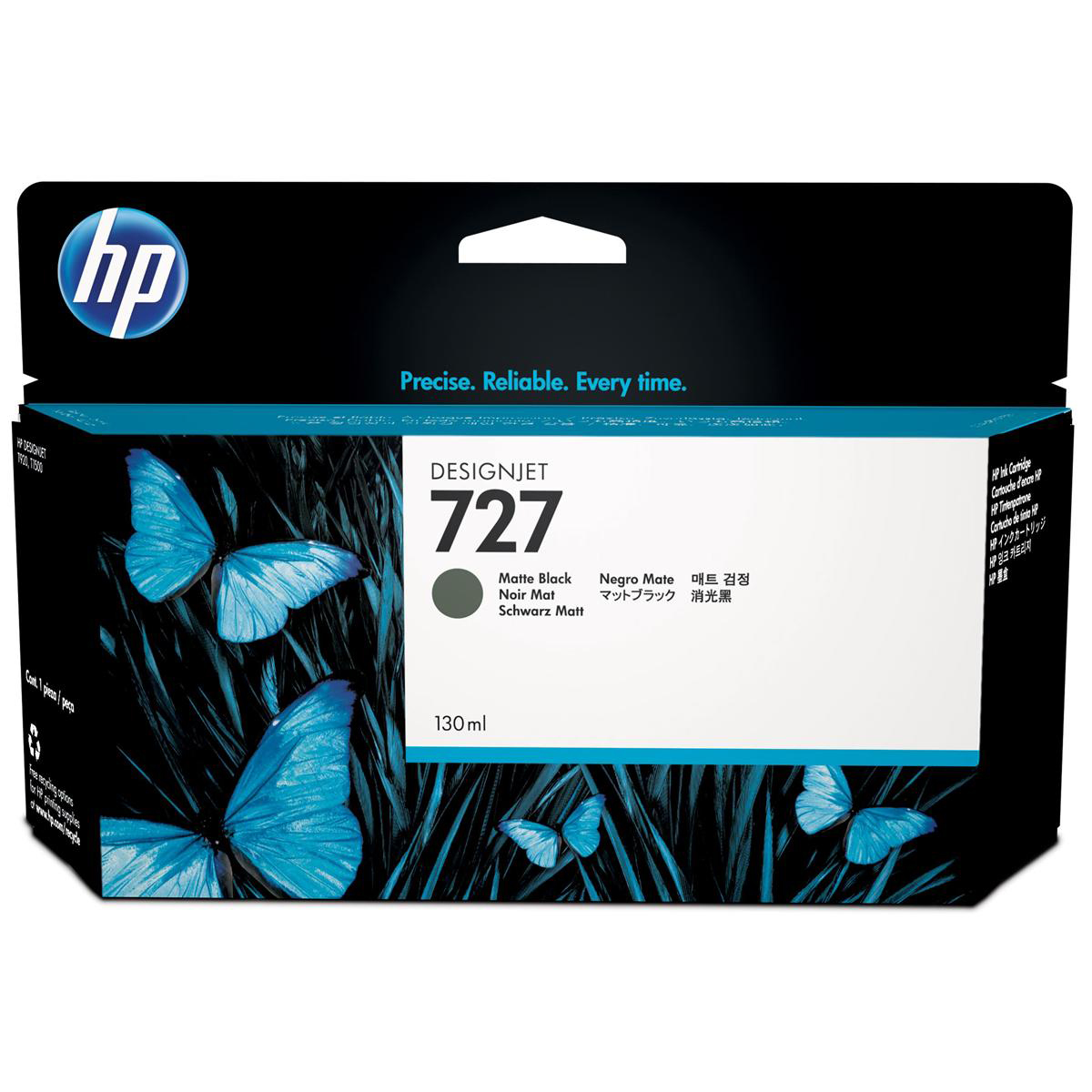 Hewlett Packard [HP] No. 727 Designjet Inkjet Cartridge 130ml Matte Black Ref B3P22A