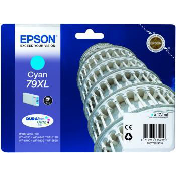 Epson 79XL Inkjet Cartridge Tower of Pisa Capacity 17.1ml Cyan Ref C13T79024010