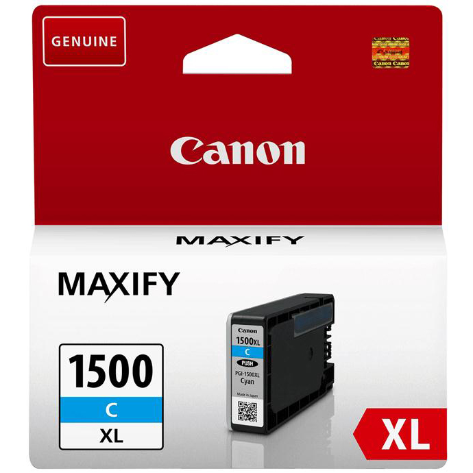 Canon PGI-1500XLC Inkjet Cartridge High Yield 12ml Page Life 1020pp Cyan Ref 9193B001AA